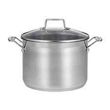 SCANPAN Impact Stock Pot with Glass Lid