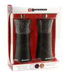 Salt and Pepper Mill | Wood | Black Matte with Granite Top | Torre | Swissmar