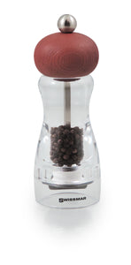 Swissmar Andrea Contour Mill with Coffee Finish Product Shot with Pepper Inside
