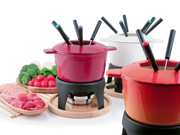 Swissmar Sierra 11 Pc Cast Iron Fondue Set
