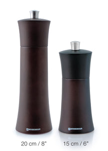 Salt and Pepper Mill | Wood | Chocolate Finish | Torre | Swissmar