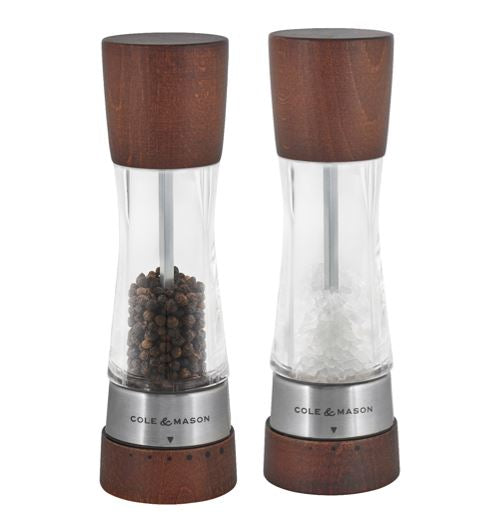 Salt and Pepper Mill | Acrylic and Wood | Forest Wood | Derwent | Cole & Mason