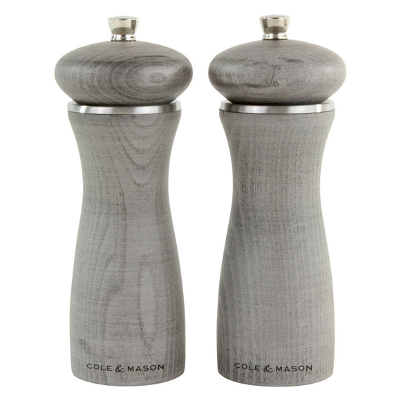 Salt and Pepper Mill Set | Sherwood Gray Wood | Cole & Mason