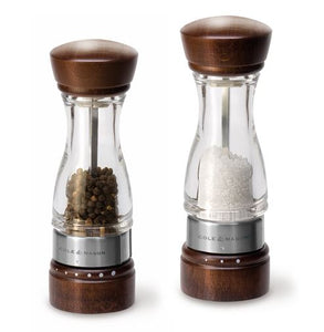 Salt and Pepper Mill | Clear Acrylic, Wood and Stainless Steel | Keswick | Cole & Mason