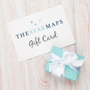 The Star Maps gift card by GreaterSkies