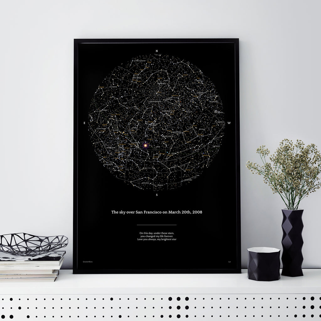 Custom sky map poster - Night  Sky