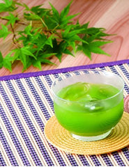 Ice matcha in glass