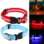 Nylon LED Dog Collar for Night Safety