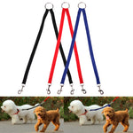 Nylon Coupler Leash for Two Dogs