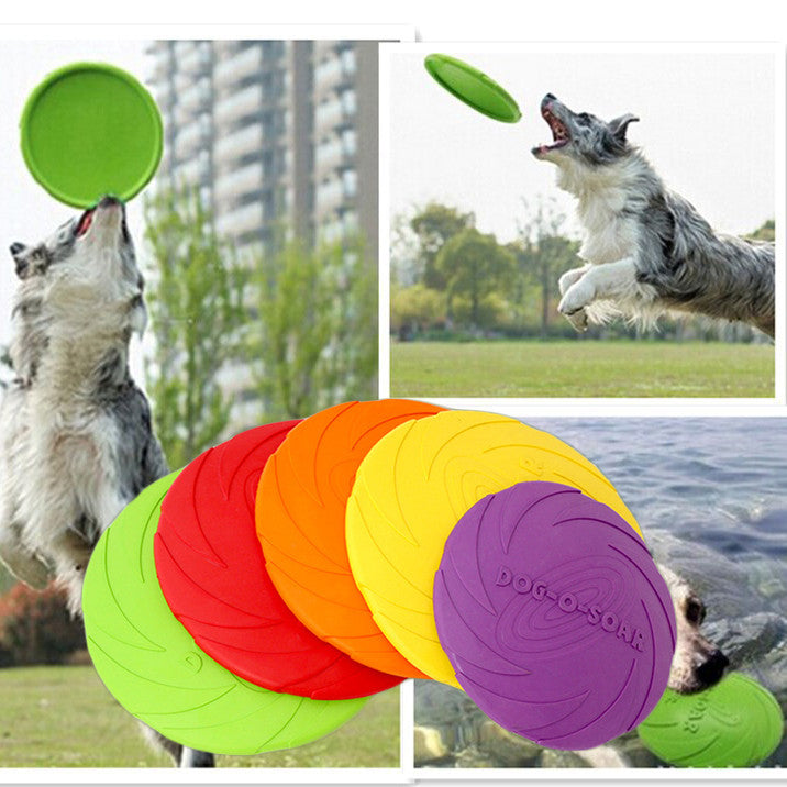 Eco-friendly Natural Rubber Dog Frisbee