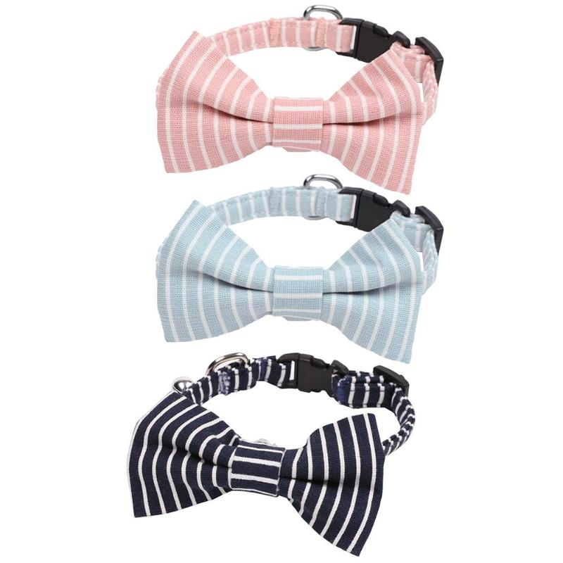 Soft Cotton Dog Bow Collar