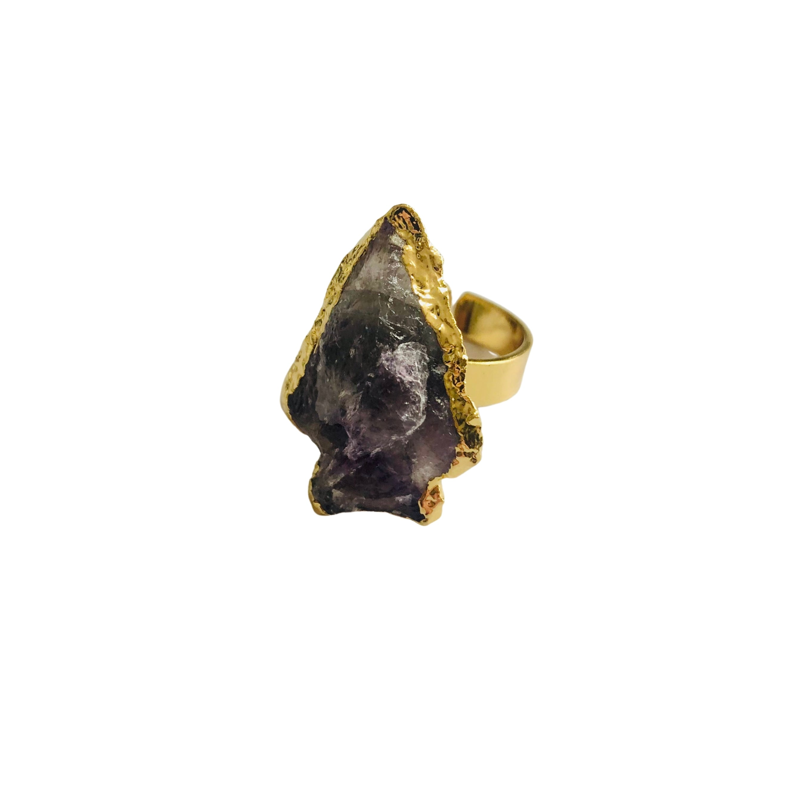 Amethyst Arrow Statement Ring