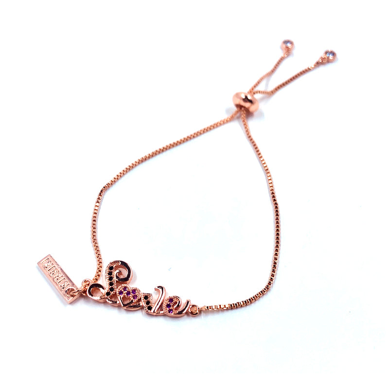 All About Love Charm Copper Bracelet