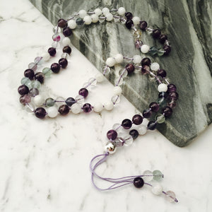 Clarity & Insight 108 Mala Gemstone Necklace