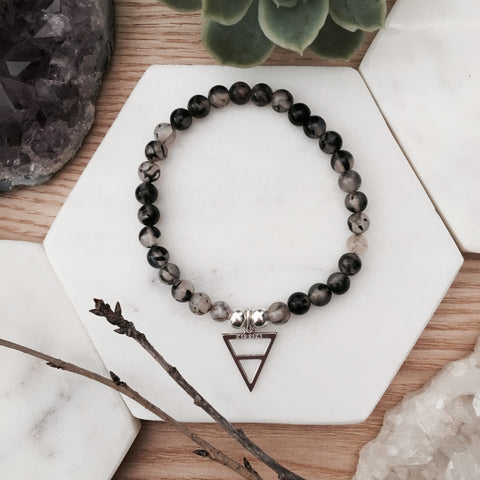 Clear Quartz Elements Bracelet