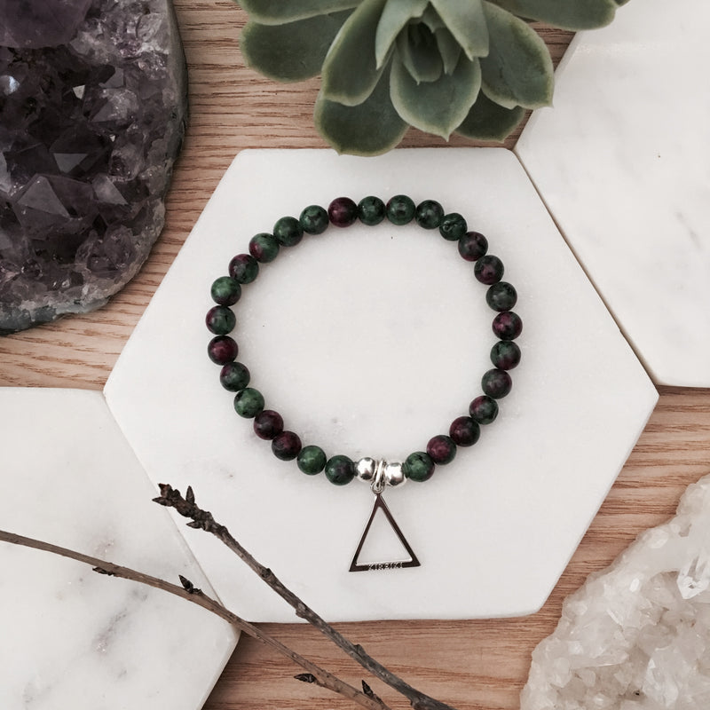 Ruby in Zoisite Elements Bracelet
