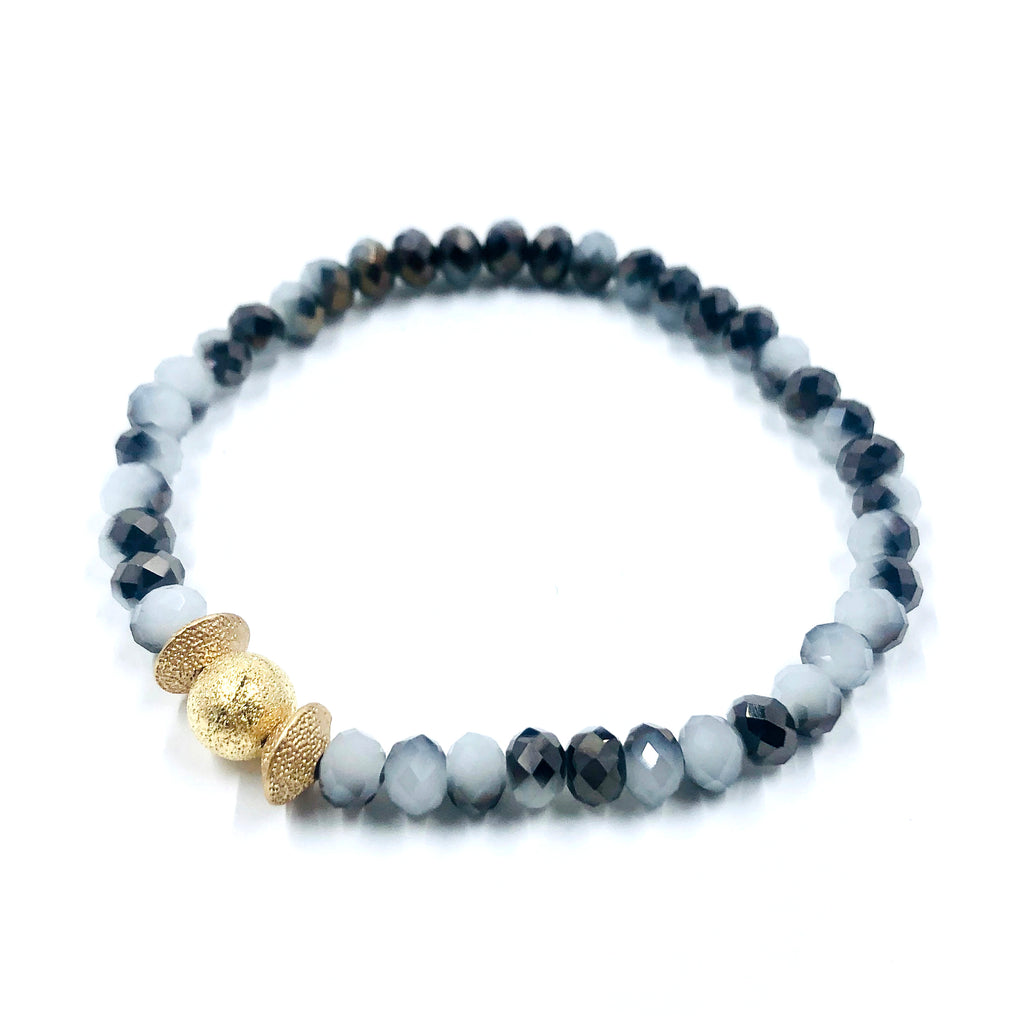 Grey & White Crystal Bracelet