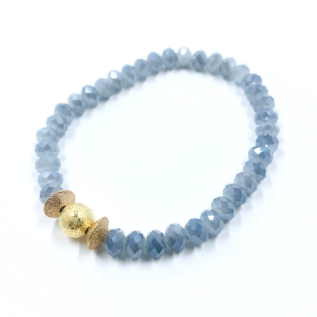 Light Blue Crystal Bracelet