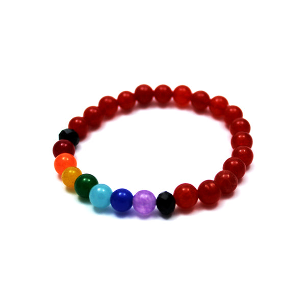 Burnt Orange Chakra Healing Bracelet