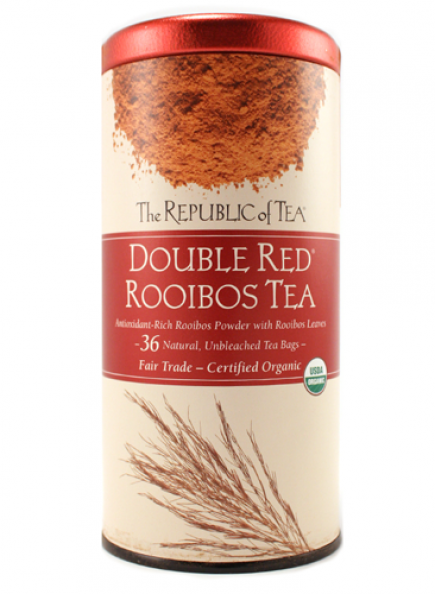 organic double red rooibos, moxie java, tea