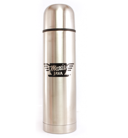 stainless steel thermos, moxie java, merchandise