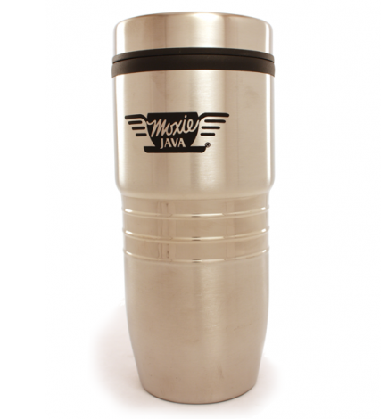 tri ring stainless steel travel tumbler, moxie java, merchandise
