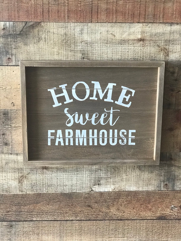 Home sweet farmhouse sign