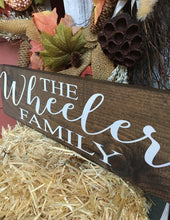 Personalized Family Wood Sign