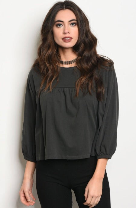 Charcoal Washed Top #93