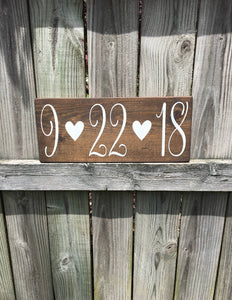 Engagement Photo Prop - Save the Date sign