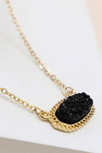 Black Druzy Necklace #3