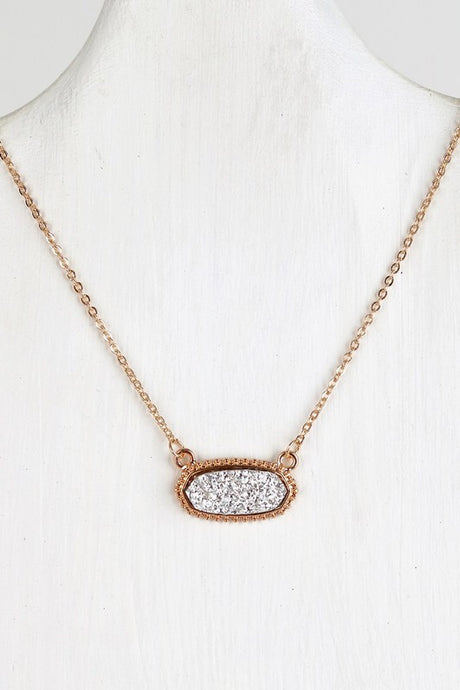 Silver Druzy Necklace #3