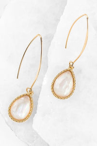 Mother of Pearl Tear Drop Hook Earring #4
