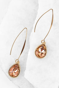 Peach Tear Drop Hook Earring #4
