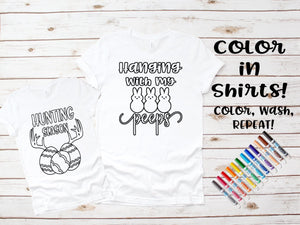 Color in DIY Easter Shirts