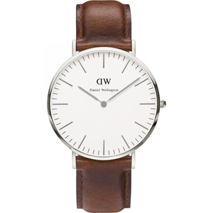 Daniel Wellington White Classic St Mawes 40mm Men's Silver Watch DW00100021 - Big Daddy Watches