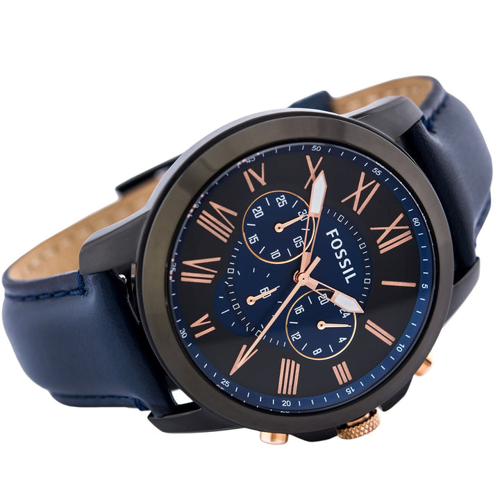 Fossil Grant Chronograph Black and Blue Dial Men's Watch FS5061