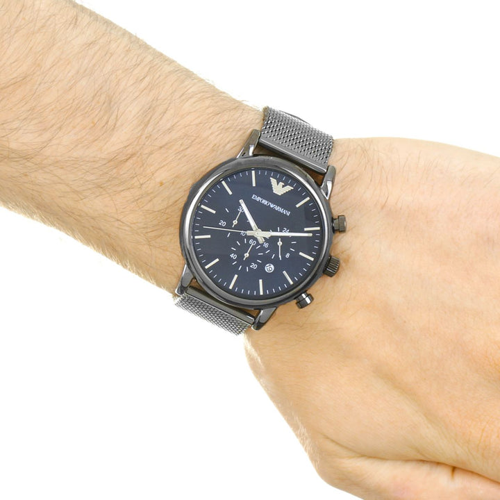 Emporio Armani Classic Gunmetal Chronograph Dial Men's Watch AR1979 Water resistance: 50 meters / 165 feet Movement: Quartz
