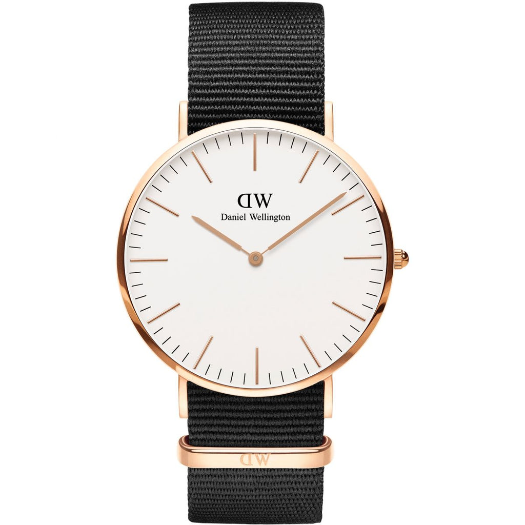 Daniel Wellington White Classic Cornwall 40mm Women's Gold Watch DW00100257 - Big Daddy Watches