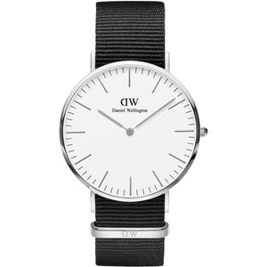 Daniel Wellington Classic Cornwall 40mm Women's Silver Watch