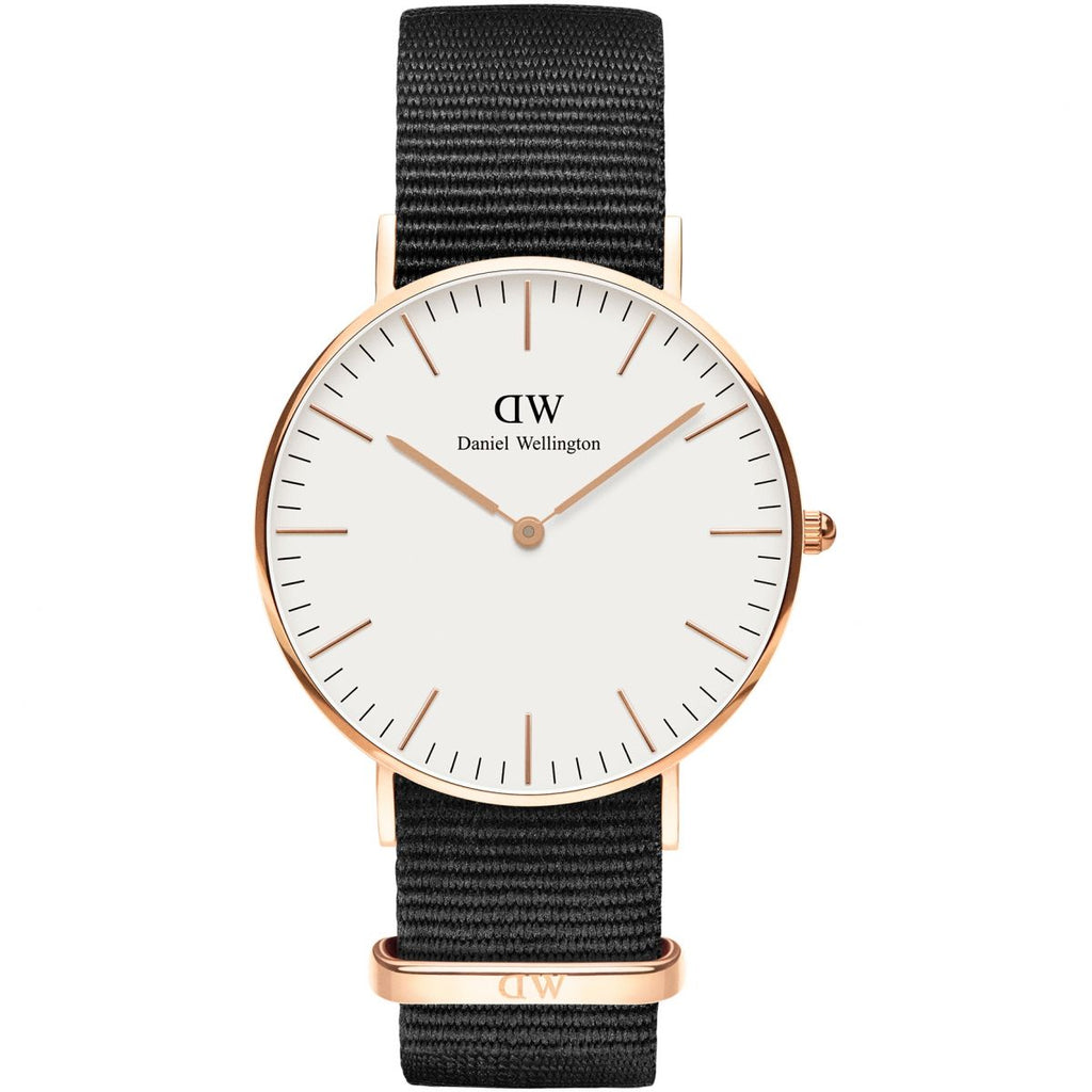 Daniel Wellington White Classic Cornwall 36mm Women's Gold Watch DW00100259 - Big Daddy Watches
