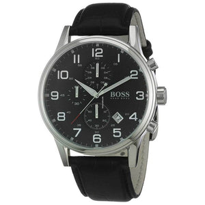 Hugo Boss Aeroliner Chronograph Black Dial Men's Watch 1512448 Water resistance: 50 meters / 165 feet Movement: Quartz