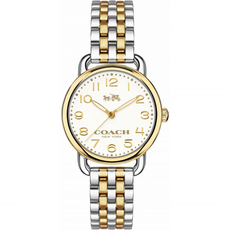 Coach Delancey Silver Dial Two-Tone Ladies Watch 14502243