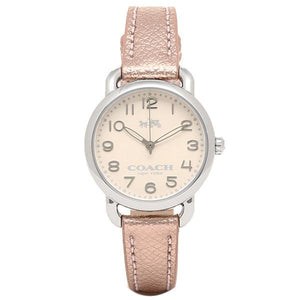 Coach Delancey Beige Dial Leather Strap Ladies Watch 14502249