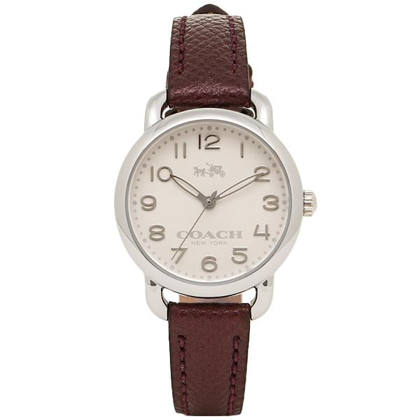 Coach Delancey White Dial Purple Leather Strap Ladies Watch 14502252