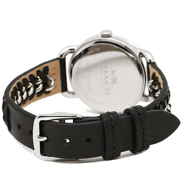 Coach Delancey White Dial Black Leather Strap Ladies Watch 14502257