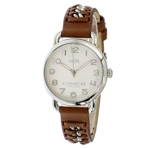 Coach Delancey White Dial Brown Leather Strap Ladies Watch 14502258