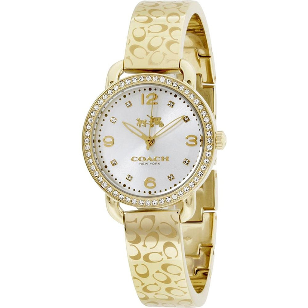 Coach Delancey Silver Dial Gold-Tone Ladies Watch 14502354
