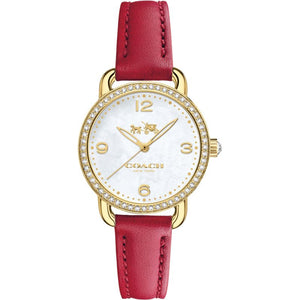 Coach Delancey White Dial Leather Strap Ladies Watch 14502452