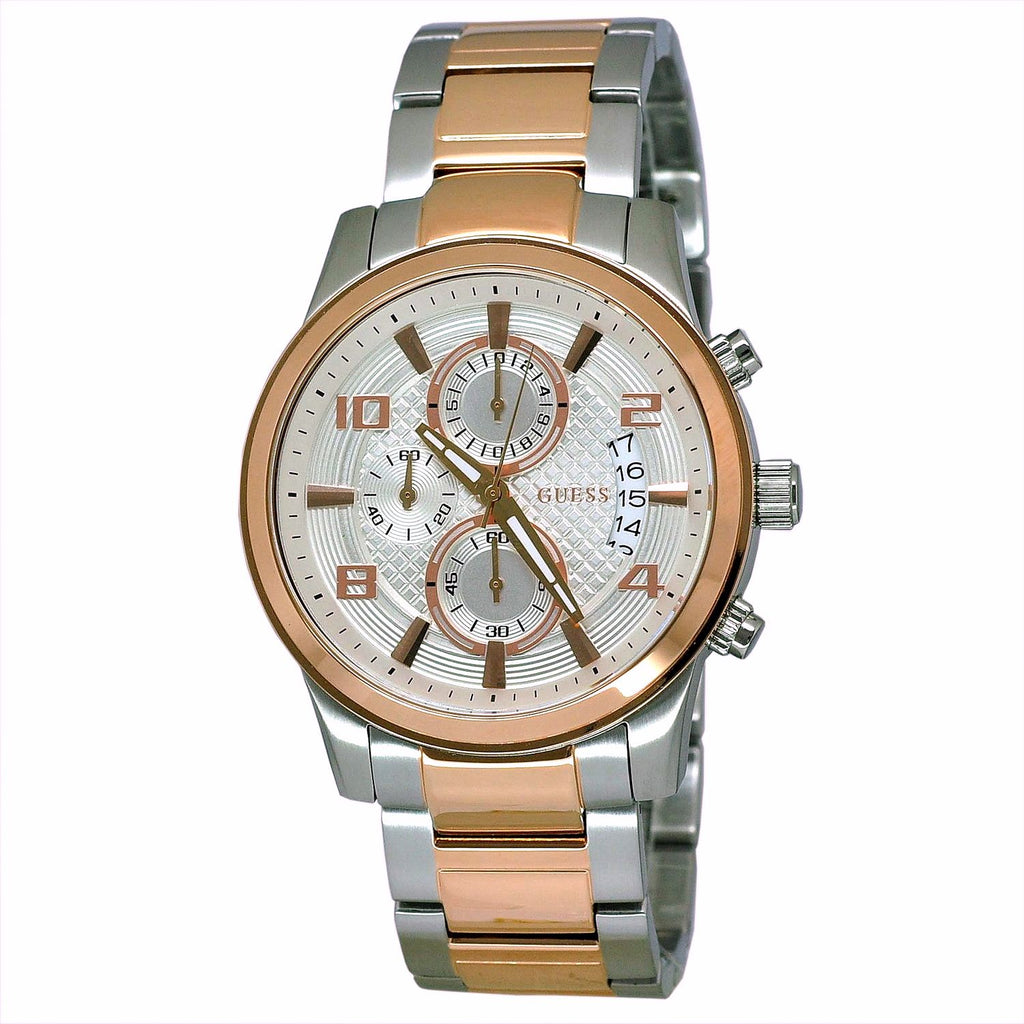 Guess Exec Chronograph Dial Two-Tone Men's Watch W0075G2